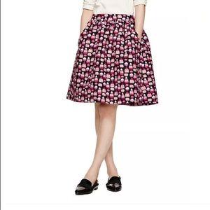 Kate Spade petit four cupcake print full skirt 2